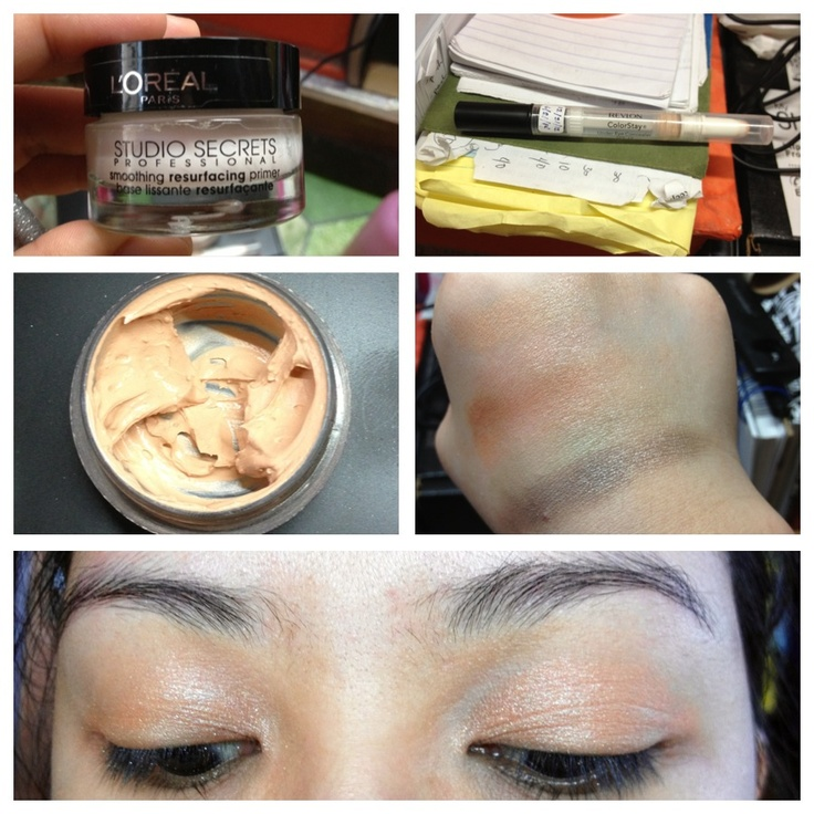I'm lovin my my self-mixed eye primer! Mixed equal parts of face primer and liquid concealer. No need to buy! :)