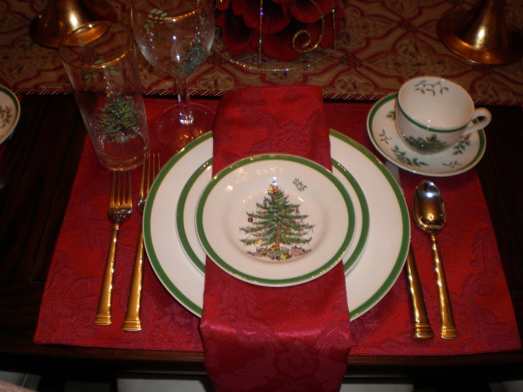8 Best Spode Christmas Tree Table Settings Images On