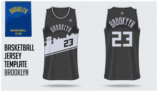 Download Brooklyn Basketball Jersey Premium Vector Freepik Vector Logo Mockup Template Badge Basketball Jersey Brooklyn Basketball Jersey