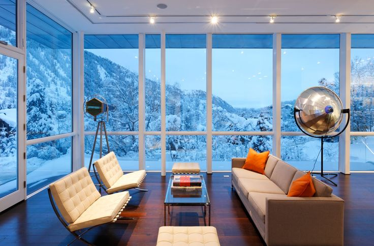Modern Open Plan Living Design In Aspen Residence By Studio B Architects