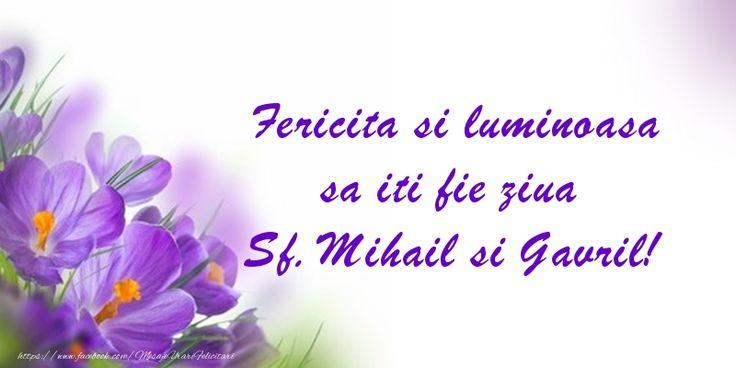 Fericita si luminoasa sa iti fie ziua Sf. Mihail si Gavril!