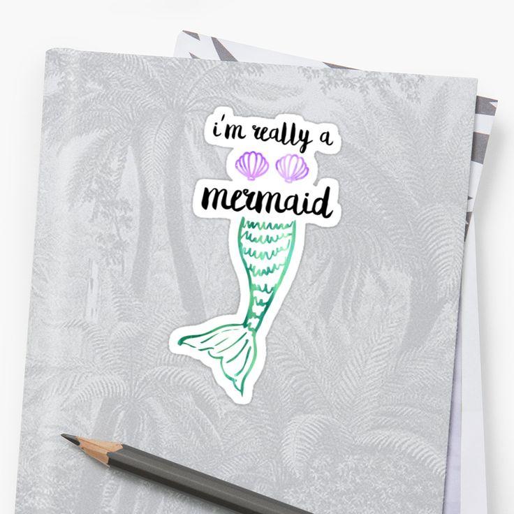 Sticker für Meerjungfrauen   Aufkleber   Meer   pastell