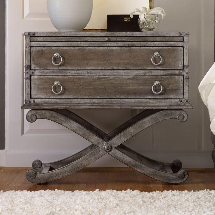 Hooker Furniture True Vintage 2 Drawer Nightstand & Reviews   Wayfair