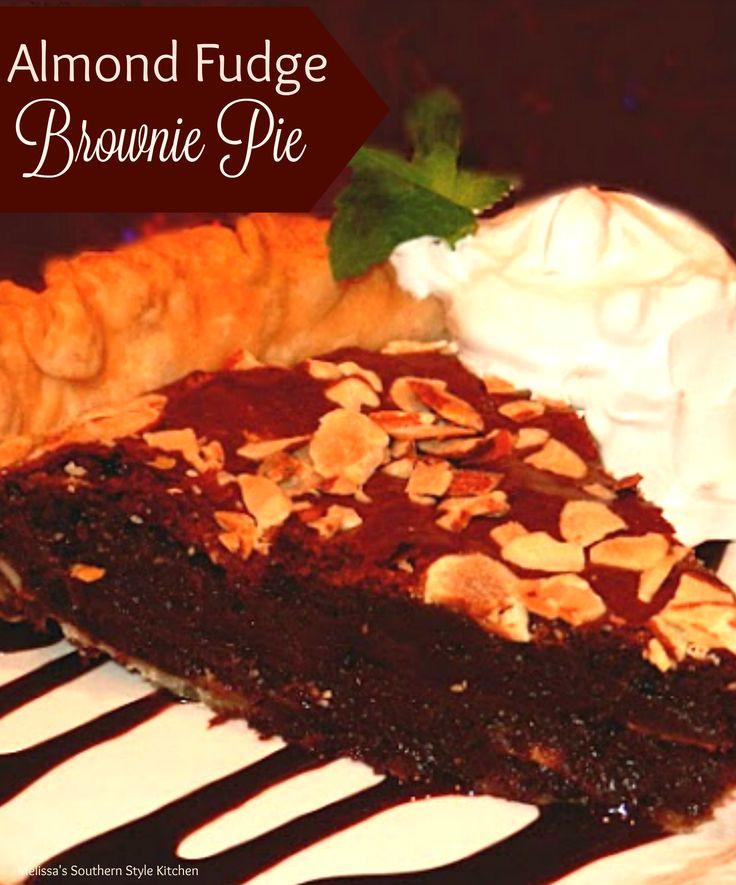 Almond Fudge Brownie Pie - This almond fudge brownie pie is a tasty ...