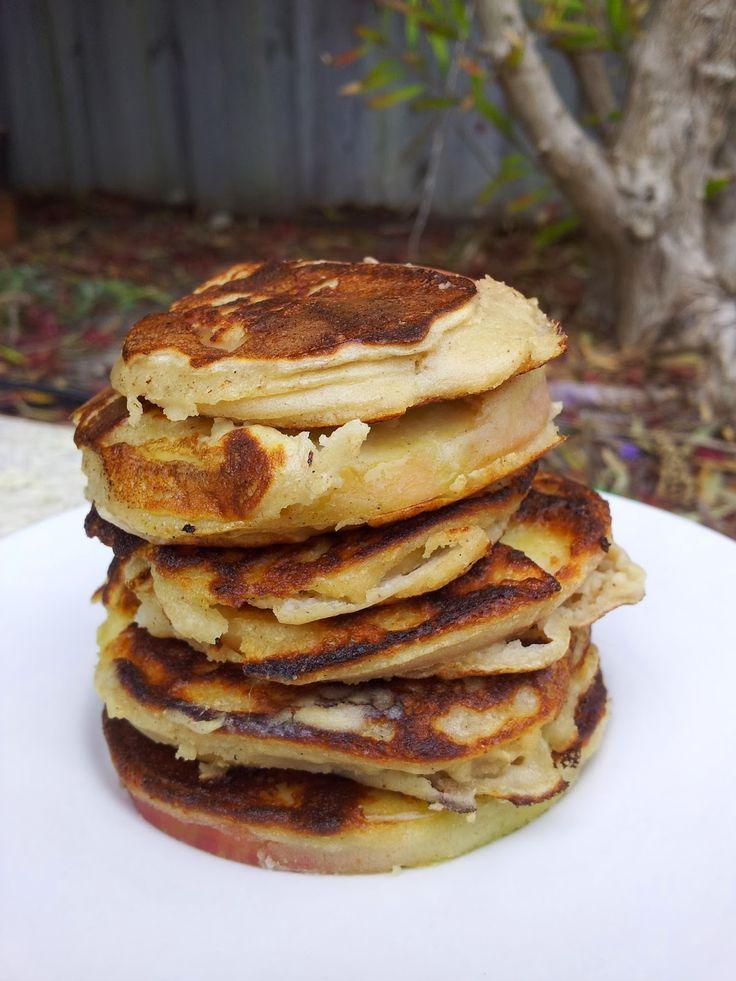 Chunky on Chia: {Vegan} Protein Apple Ring Pancakes