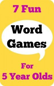 7 fun word games for 5 year olds No prep needed, full of creativity, language development, memory skills and fun!