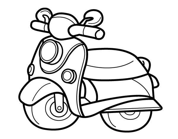 Dibujos De Motos Para Colorear Faciles Moto Para Colorear Motos Para Dibujar Colorear Online