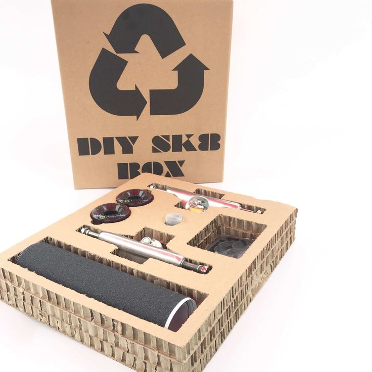 DIY Sk8 box by DiiRt  (français en dessous)  Orderyour DIY sk8 Boxto make your own personnal custom skate.  Don't miss the know-how video on the youtube channel diirt upcycling  Diirt DiY SK8 Box We have packed into this kit all the nuts and bolts required plus a number of different deck shapes to allow you to be your own skateboard designer. This complete set will provide you with all you need to create your 'do it yourself' skate. You will need a jigsaw and a drill a bit slightly larger…