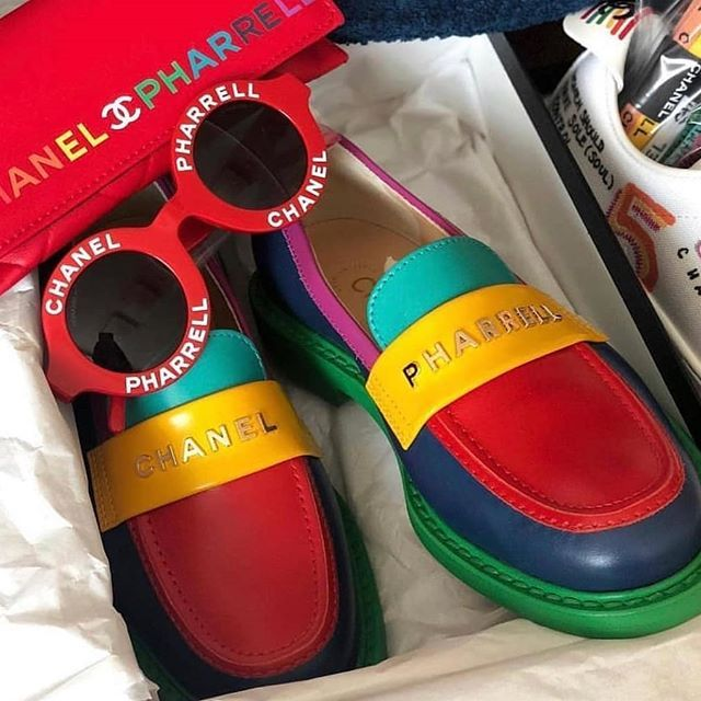 chanel pharrell shoes loafers