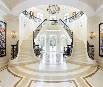 mansiones de lujo por dentro de artistas