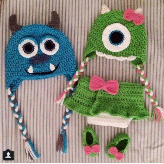 Baby crochet- monsters inc. so cute!!!