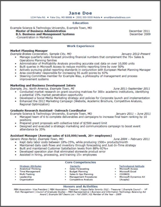 best ideas about mba resumes resume 10 and info mba on Detox Pins - Example Of A Resume Summary