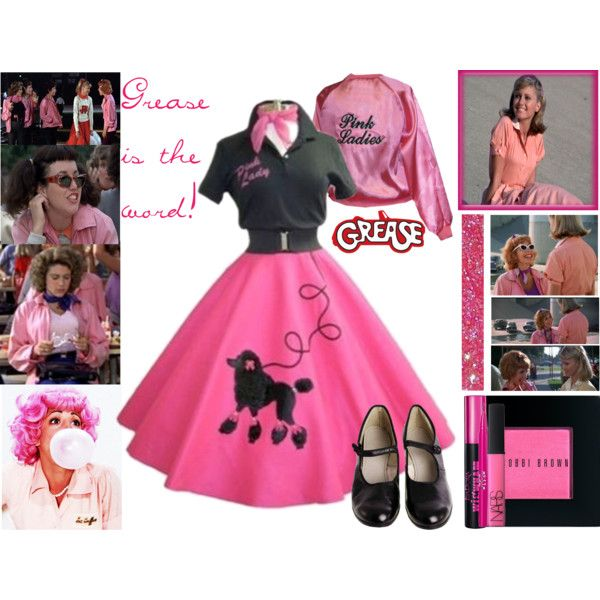 """Pink Ladies (Grease)"" by pinky44 on Polyvore"