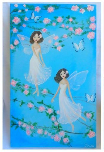 Handpainted fairies with acrylics by Irene and Nicki Crafts