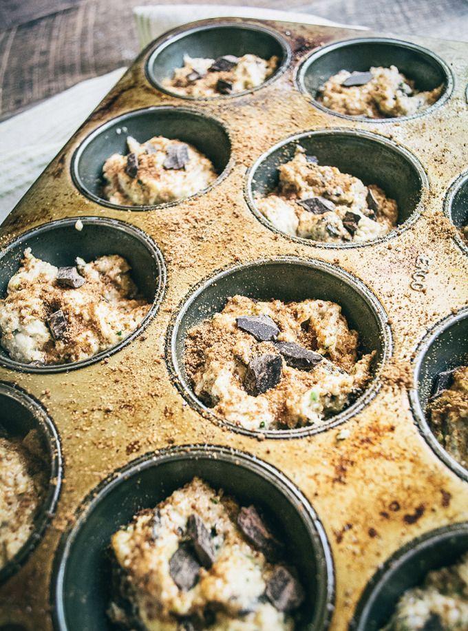 Gluten Free Zucchini Chocolate Chunk Muffins Recipe