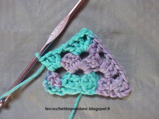 le Crochet de Pandore: Tuto Half Granny Square