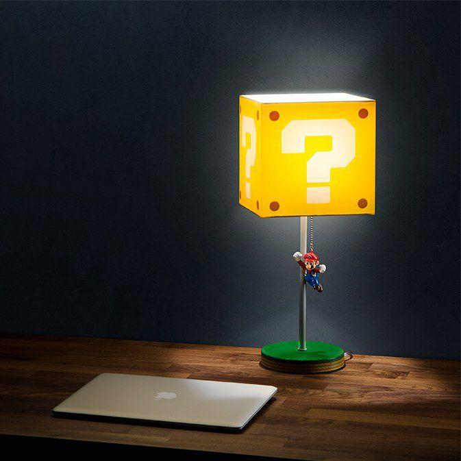 Jumping Super Mario Question Block Lamp Super Mario Mario Cool