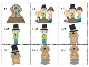 Free Groundhog Day Poem and Memory Game