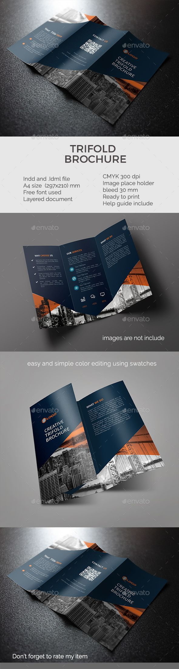 Trifold Brochure - #Corporate #Brochures Download here: https://graphicriver.net/item/trifold-brochure/19485443?ref=alena994