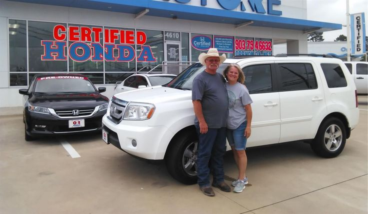Cynthia, we're so excited for all the places you'll go in your 2011 HONDA PILOT!  Safe travels and best wishes on behalf of Orr Honda and LARRY GENTRY.