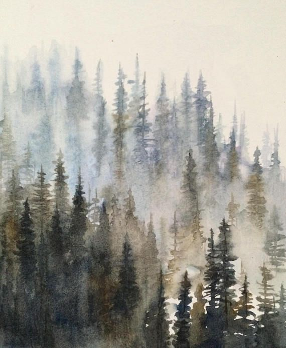 27+ Forest Watercolor Pine Trees