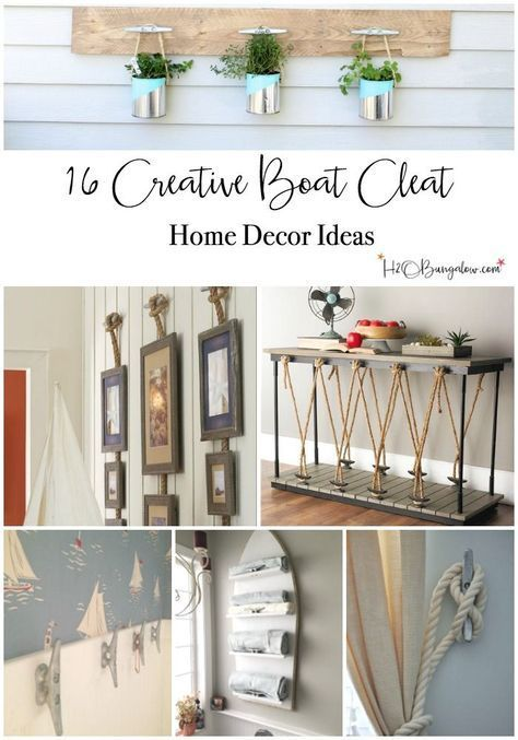 Beautiful 16 Super Creative Boat Cleat Decorating Ideas. Nautical ...