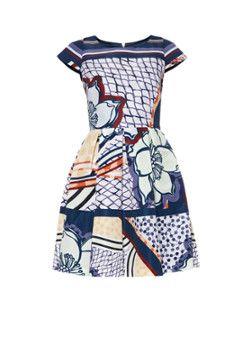 Ted Baker Wrennie A-lijn jurk met tribal print