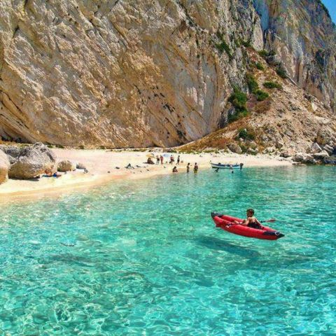 Aspri Ammos Beach, Othoni Island - Greece.