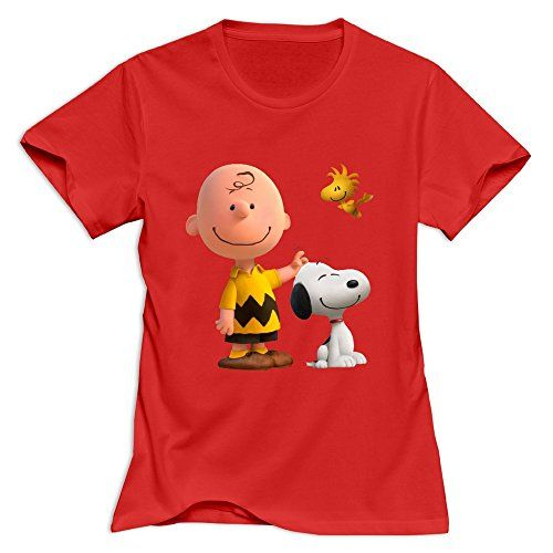 StaBe Women Peanuts Movie 2015 Snoopy T-Shirt Humor XS Red @ niftywarehouse.com #NiftyWarehouse #Peanuts #CharlieBrown #Comics #Gifts #Products