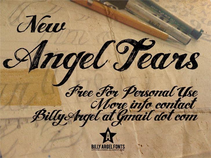 ANGEL TEARS font by Billy Argel - FontSpace