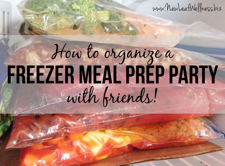 HOW TO ORGANIZE A FREEZER MEAL PREP PARTY WITH FRIENDS. I did this with a bunch of my friends and it was so much fun! We each left with five dinners to freeze and they were delicious. This post does a great job of explaining how to do it and I love the grocery list.