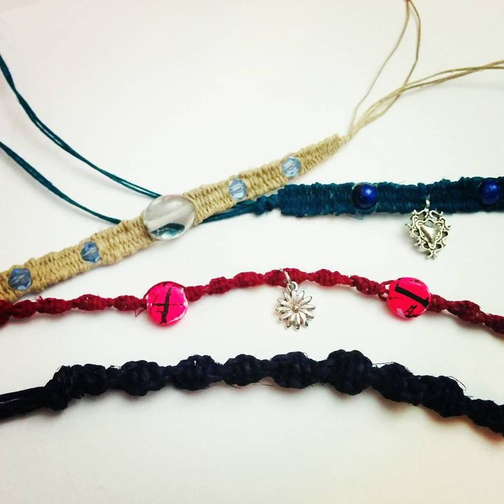 Rolling out new designs and new colors #checkitout #hempjewelry #artworks #handmade