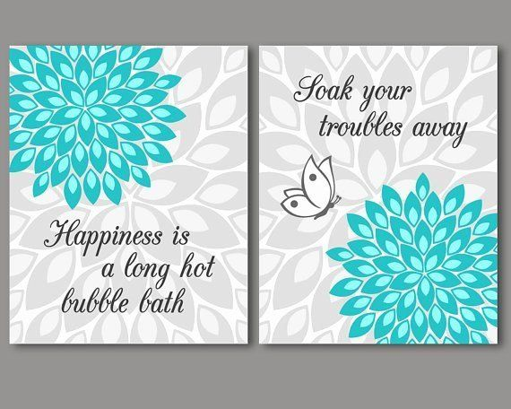 Turquoise Bathroom Wall Decor Awesome Items Similar To Turquoise And Grey Bathroom Wall Art Turquoise Bathroom Decor Turquoise Bathroom Mermaid Bathroom Decor Teal wall decor for bathroom