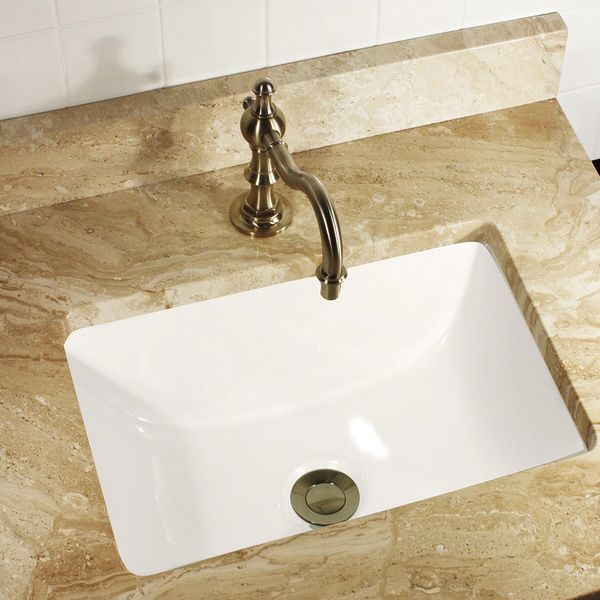 Highpoint Collection Petite 16x11 Rectangle Ceramic Undermount Vanity  Lavatory Sink   Overstock™ Shopping   Great