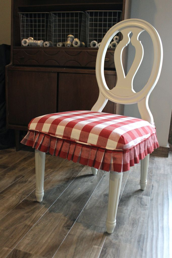Red and White Buffalo Check Slipcovers   Slipcovers by Shelley see fastener  detail86 best Chair skirts images on Pinterest   Chairs  Dining chairs  . Red Dining Room Chair Pads. Home Design Ideas