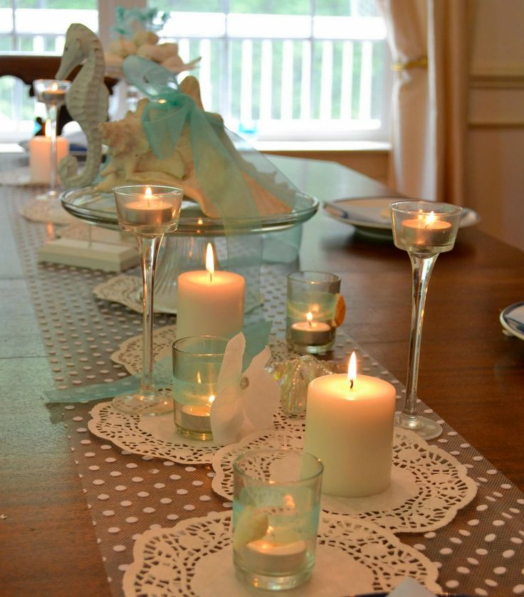 wedding shower centerpieces beach theme%0A Beach Wedding Shower Ideas   Wedding Shower Table Decoration   http   simpleweddingstuff
