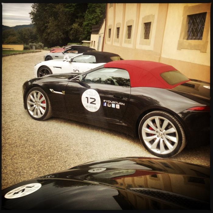 ecco le nostre Jaguar F-Type pronte alla partenza