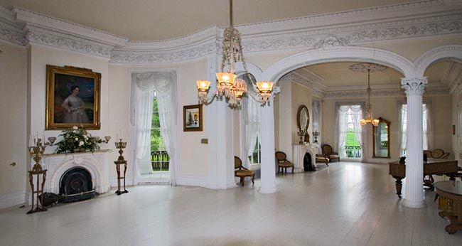 plantation home interiors the white ballroom in the nottoway plantation mansion on 14576