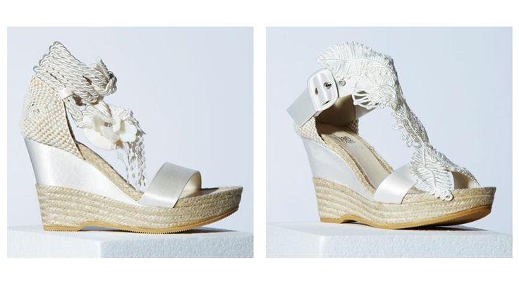 Espectaculares zapatos de novia!!! Alucinée!!