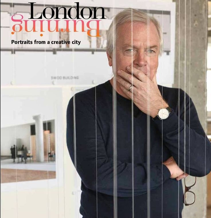 David Chipperfield ,architect extraordinaire , lost in thought in his Waterloo London Studio. Photo by Andrea Hamilton #londonburningbook