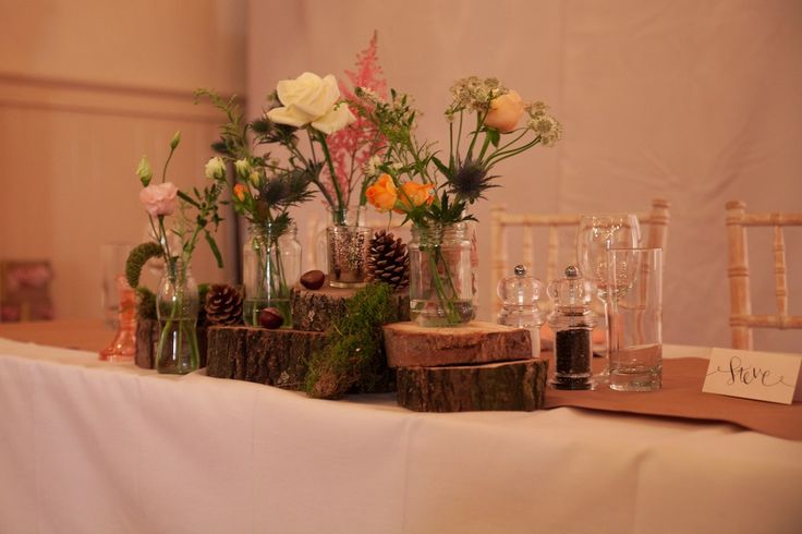 Rustic table centrepiece.  Image by Henry Britten Photography