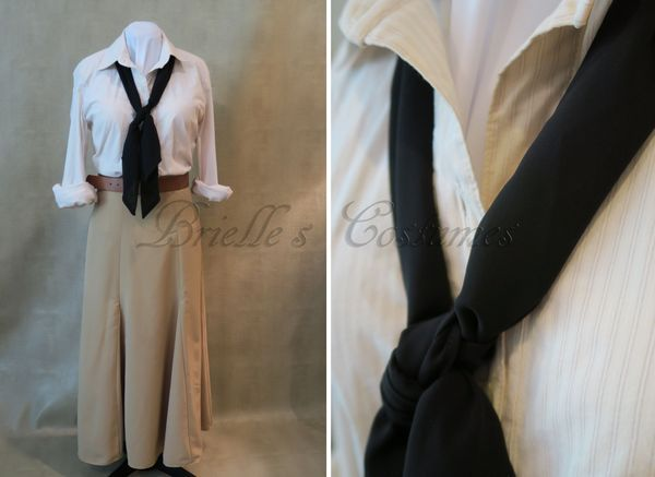 "My customer was looking for a costume inspired by Evelyn's Librarian Costume from 1999 movie ""The Mummy"". This was a fun style of costume for me to sew. I don't usually get commissions for more modern garments and the vintage style fabrics allowed for lots of details to show in..."