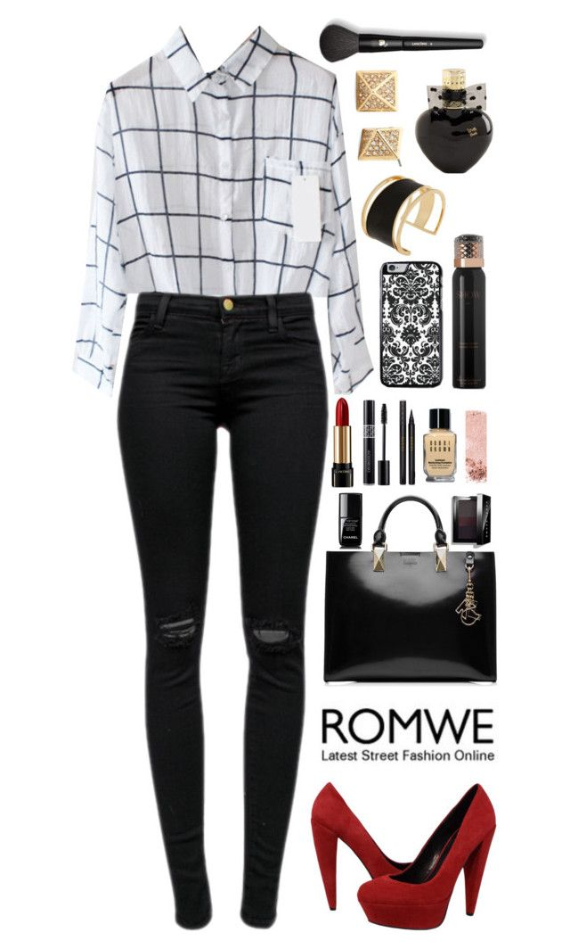 """""""monocrome"""" by bemack ❤ liked on Polyvore featuring J Brand, Dolce Vita, Karl Lagerfeld, Rachel Zoe, Lancôme, Show Beauty, Chanel, Christian Dior, Gucci and Bobbi Brown Cosmetics"""