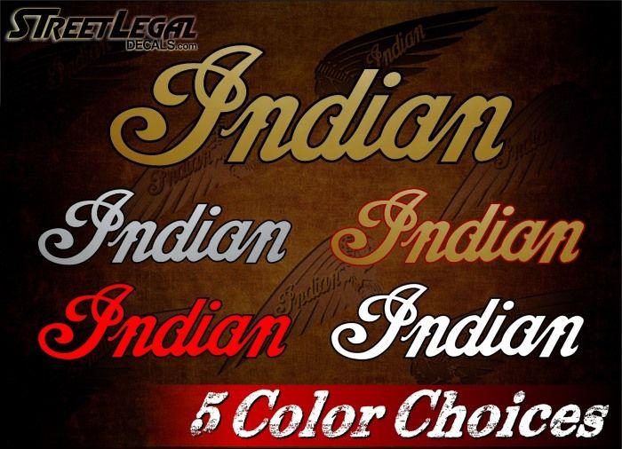 2 Indian Script Vinyl Decals