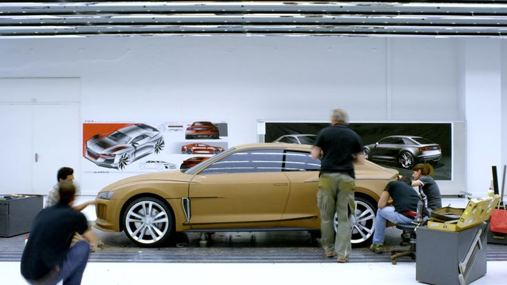 the progress of design: creating the AUDI sport quattro concept: and how do you develop a car? You model of course...