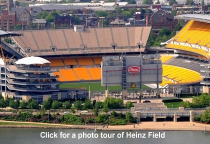 Don't forget to visit the monumental  Heinz Field to experience the greatness of the Pittsburgh Steelers. Or to have a tour of this spectacular stadium.
