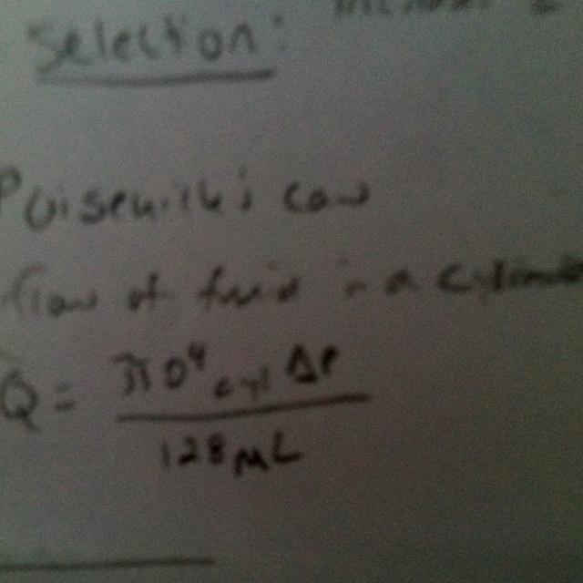 What I'm learning, fluid dynamics