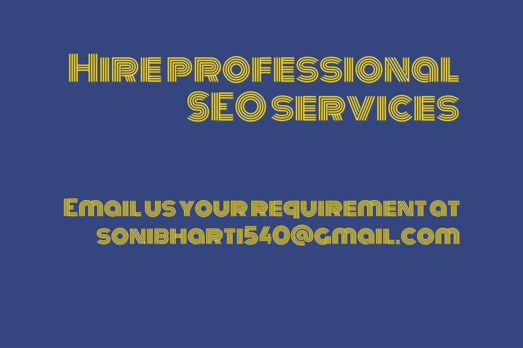 Choosing a right SEO Professional in India to Increase your website presence in Rich searchable search engine. http://www.sonibharti.com/professional-seo-services/