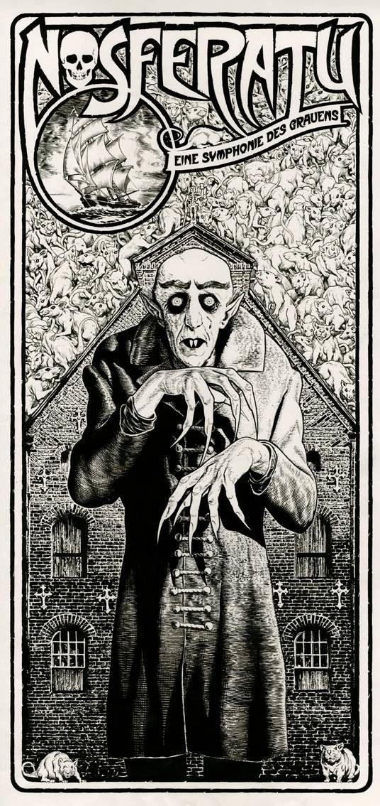 """""""Nosferatu, eine Symphonie des Grauens"""", Friedrich Murnau (1922), poster by Chris Weston."""