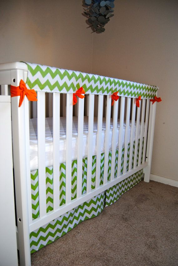 Crib Teething Guard by SewingPaperTrails on Etsy, $35.00